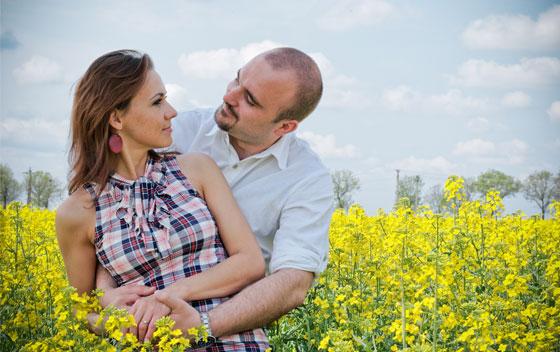 Locatii poze nunta in Arad - sedinta inainte de nunta in lan de rapita