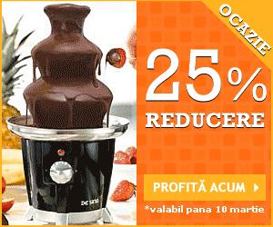 25% Reducere Bufet fructe si Fantana ciocolata